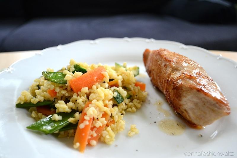 7 Bulgurgemüse mit Fleisch