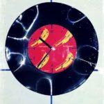 diy, upcycling, Uhr, Vinyl, Schallplatte, schwarz, Uhrwek