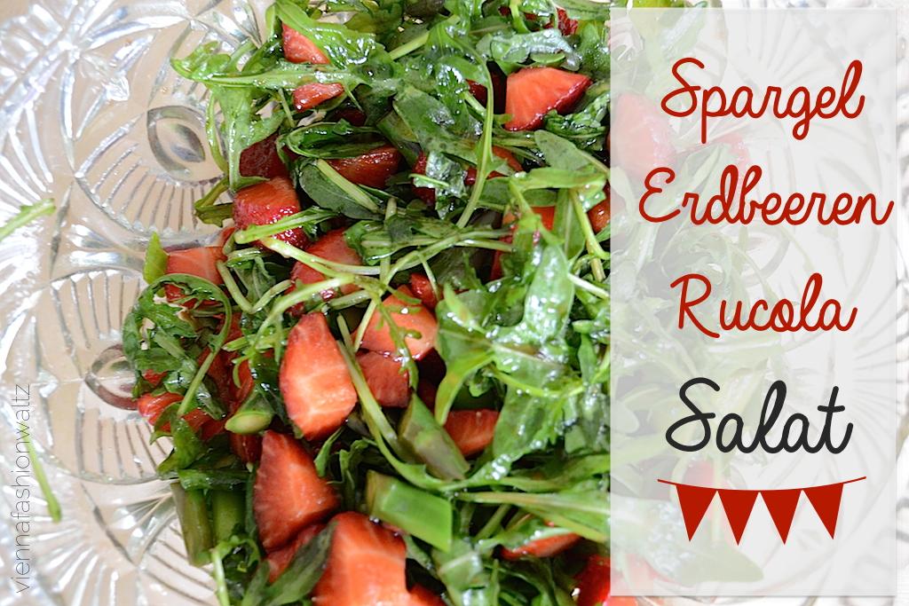 Spargel Erdbeer Rucola Salat