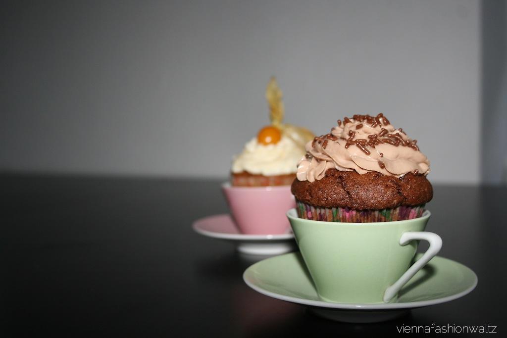 Cupcakes mit Nutella-Mascarpone-Topping