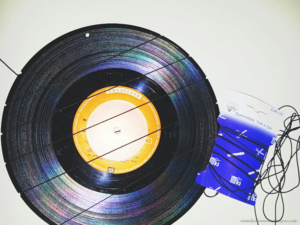 DIY, Upcycling, Vinyl, Orringe, Aufbewahrung, Halter,Gummiband