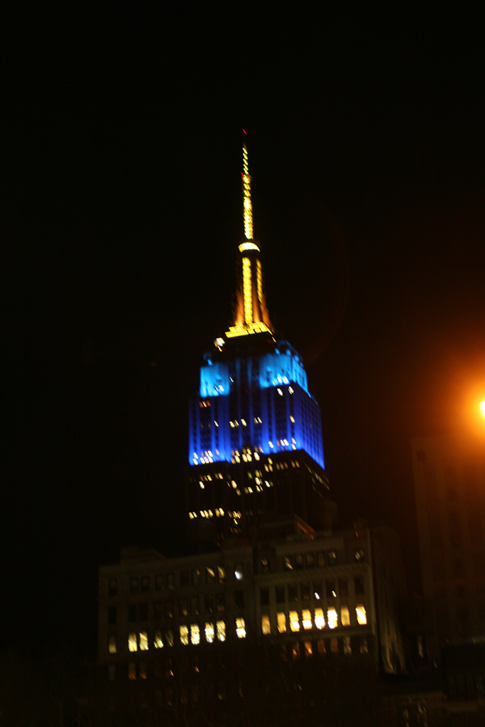 NYC Empire State by night