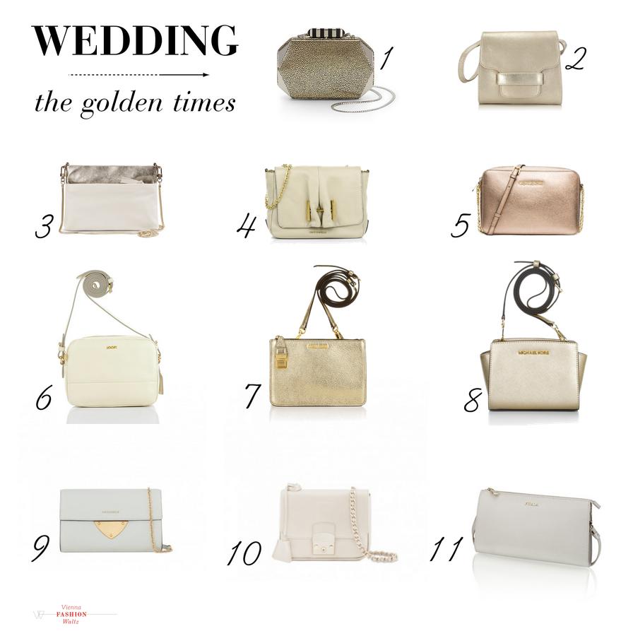 Hochzeitstagebuch: 11 Taschen für goldene Zeiten | wedding bag tasche hochzeit coccinelle rebecca minkoff unisa lifestyle blog viennafashionwaltz