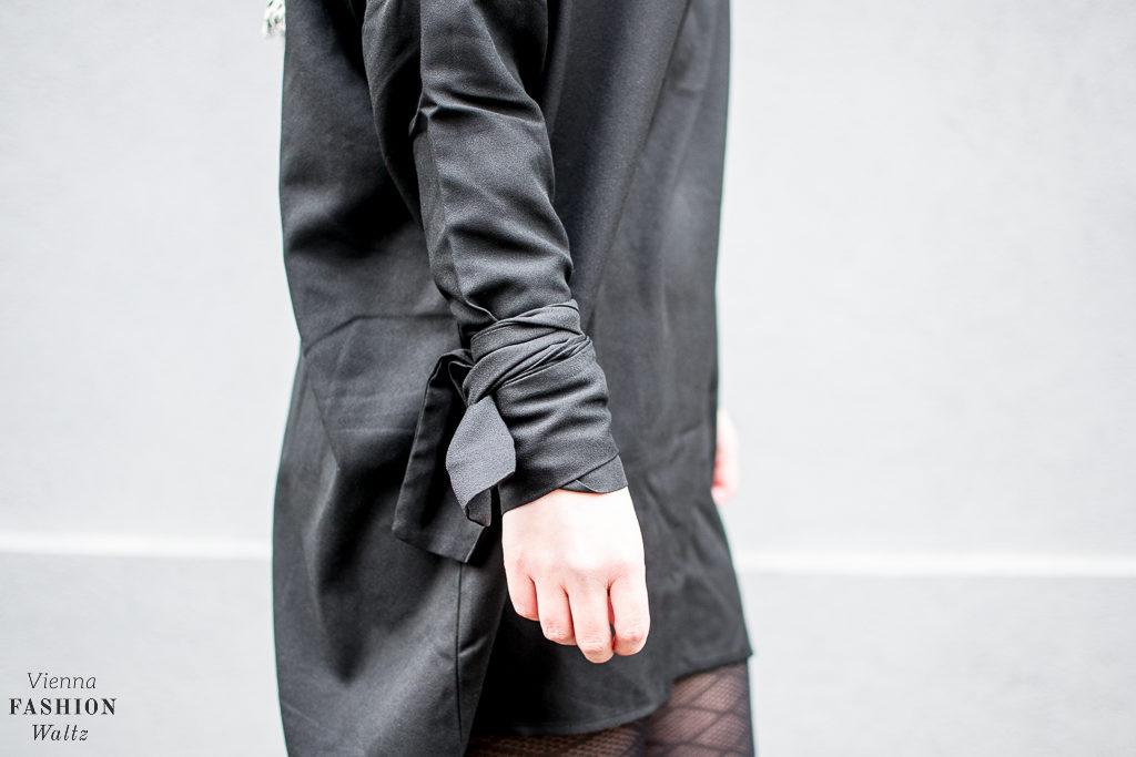 All Black: Little Black Oversized Dress, SheIn dress