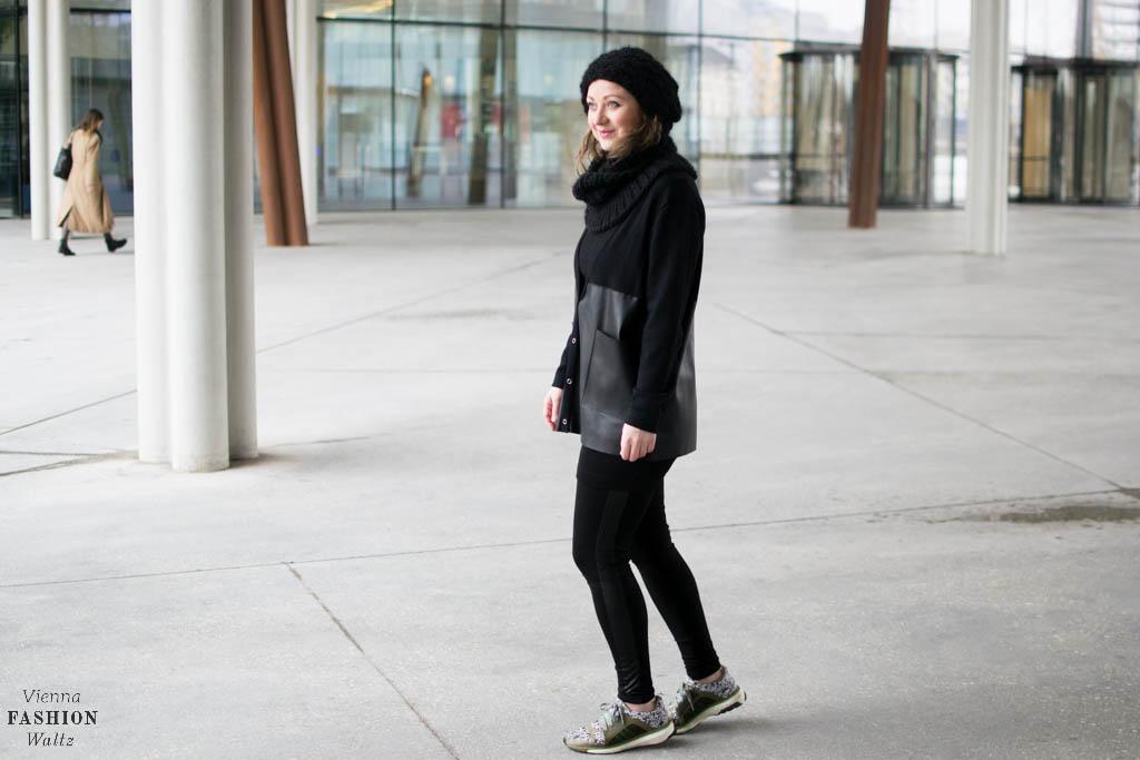 All Black Fake Leather Outfit und Kunstleder Pflege-Tipps!