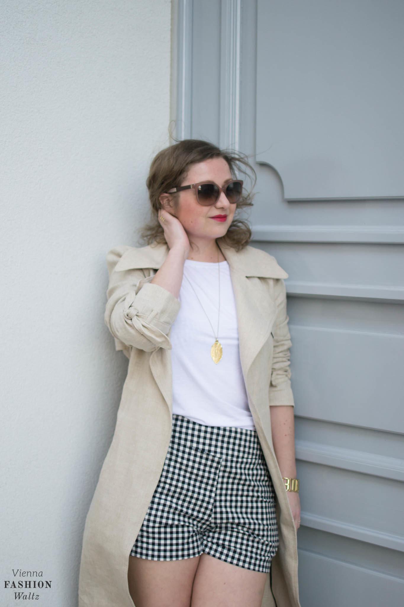 Vichy Karo Shorts, Zara