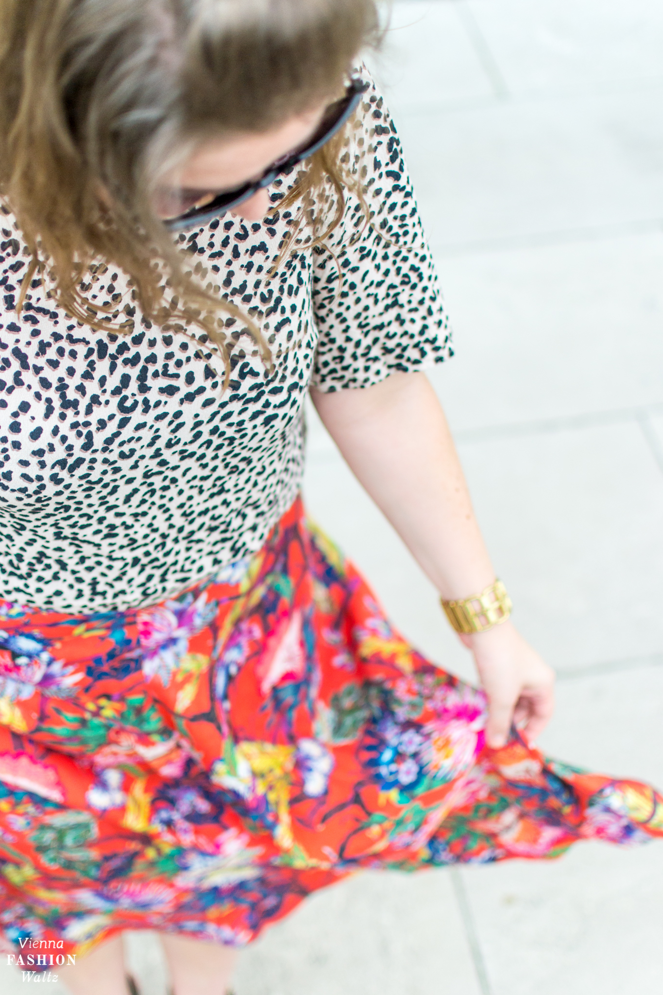 Blumenprints im Trend & Styling Tipps | Print Mix Outfit | Blogger Style, Fashion Streetstyle, Wien Belvedere