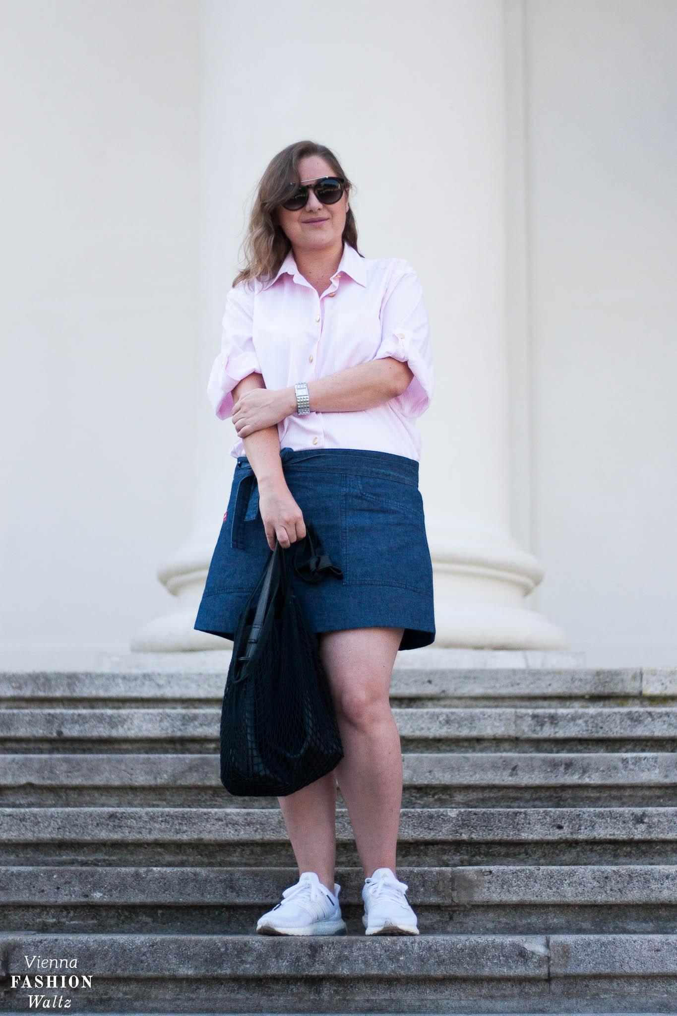 Vintage Denim Look mit Burberry Hemd
