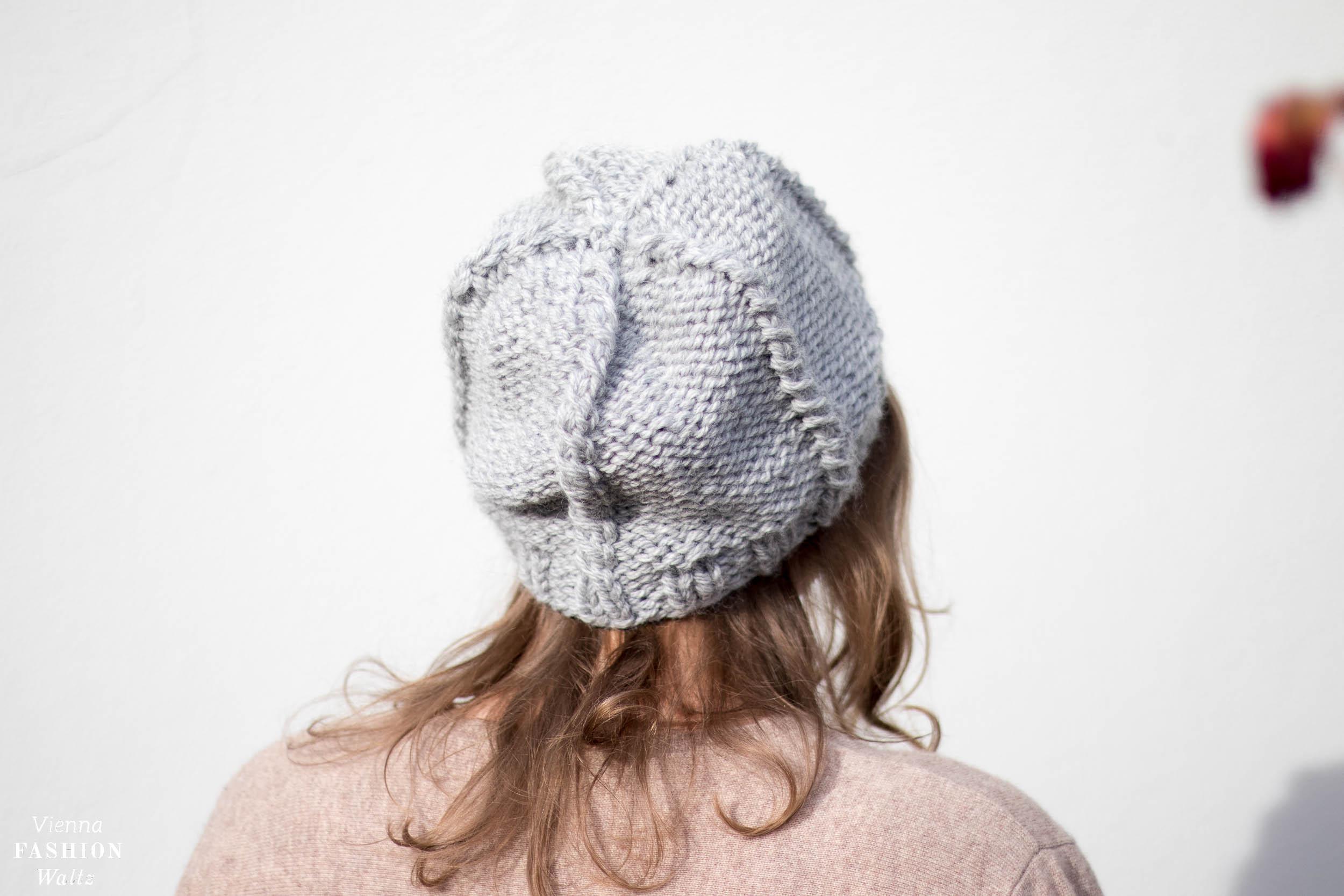 Mütze mit Zopfmuster stricken, Kostenlose Strickanleitung, Selbermachen, Stricken mit Wolle, Anleitung