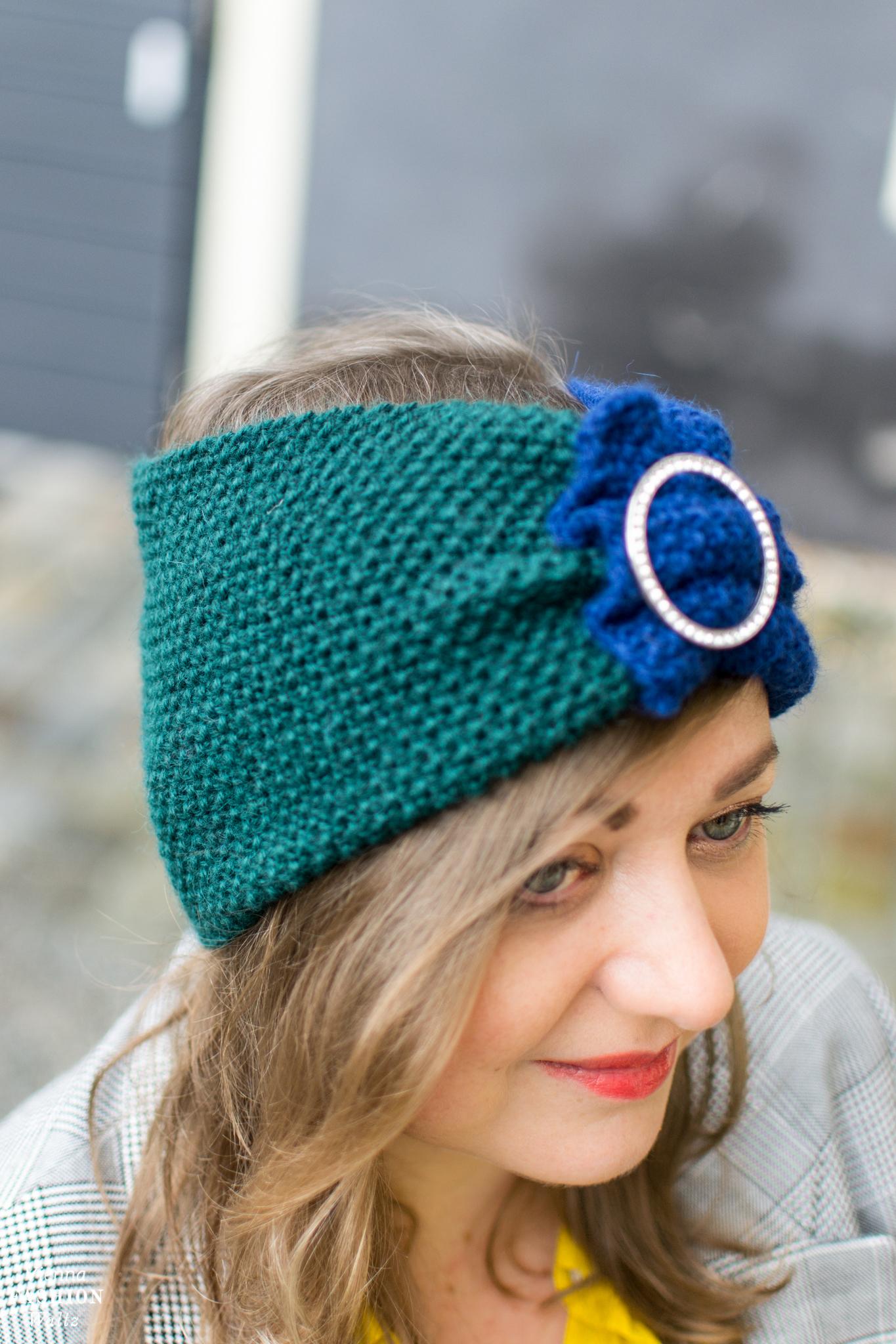 Schnelles Turban Stirnband stricken, kostenlose Strickanleitung, Stricken für Anfänger, Schnelle und einfache kreative Ideen!