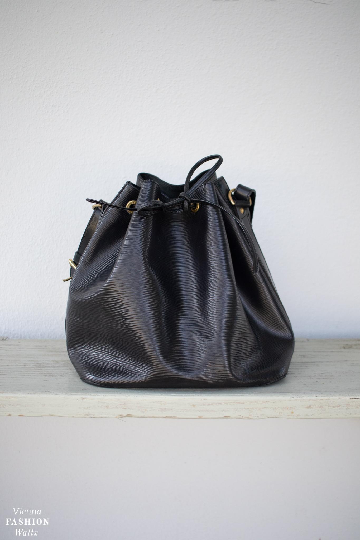 Vintage & Second Hand Schätze Louis Vuitton Petit Sac Noe Epi Beuteltasche Bucket Bag