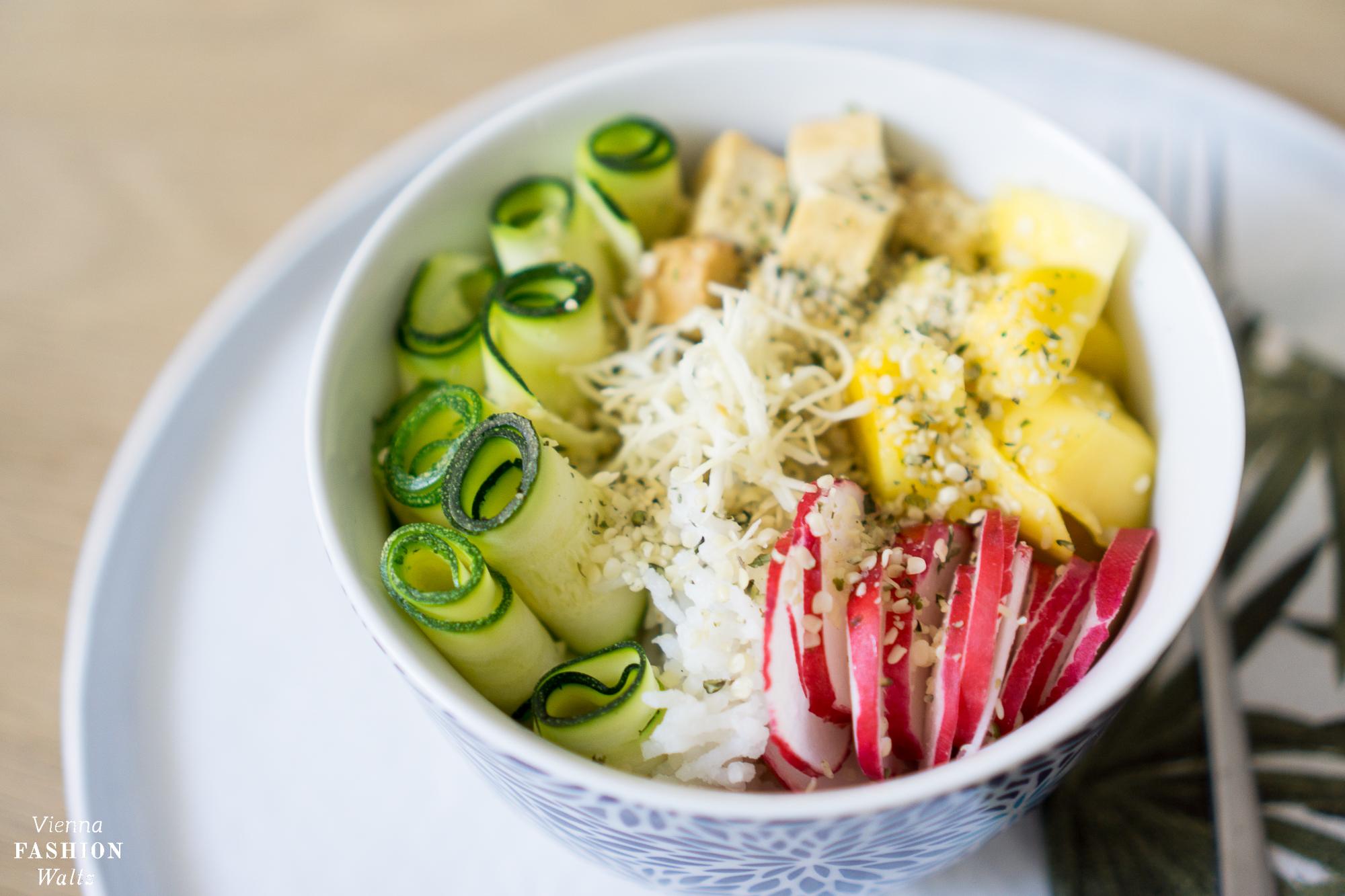 Vegetarische Poke Bowl | Rezept schnell, einfach, gesund, fit
