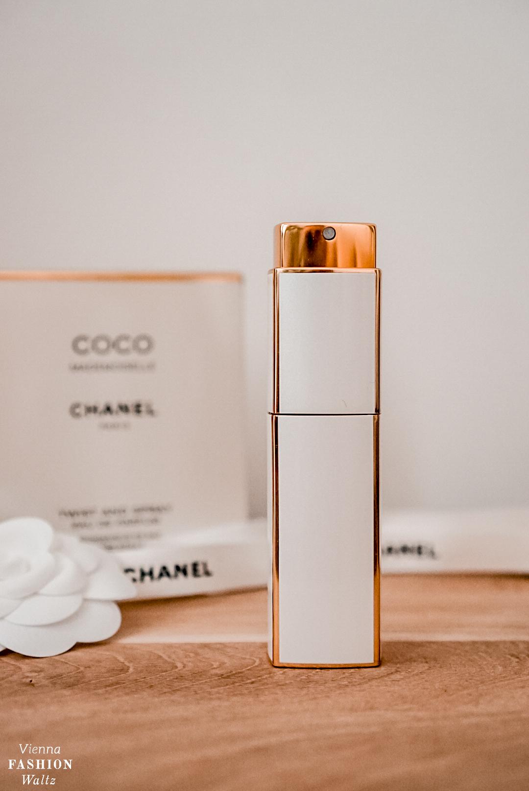 Chanel Weihnachtsgeschenk, Parfum Set, Twist and Spray für die Handtasche, Coco Chanel, Camelie